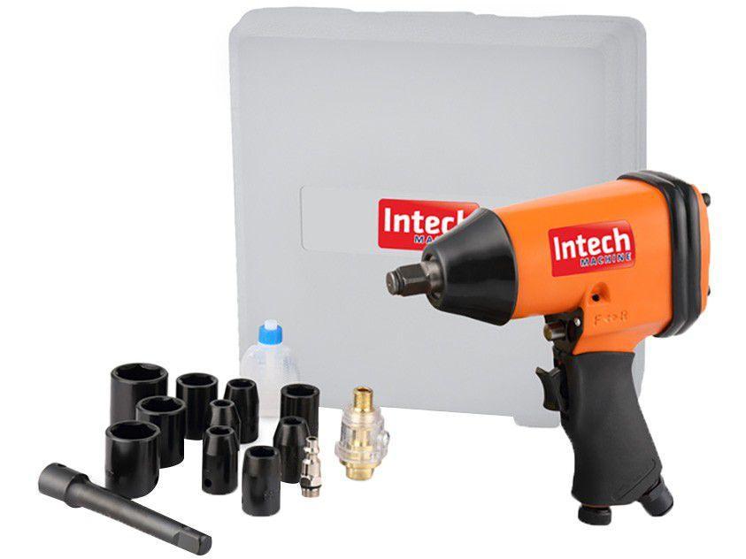 Chave de Impacto Pneumática 32 Kgfm - Intech Machine PN700 com Acessórios