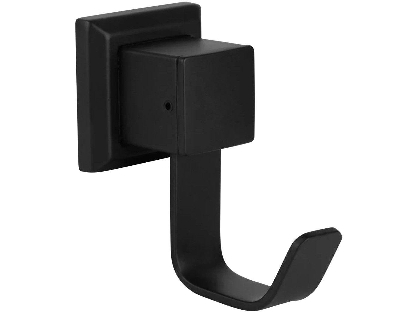 Cabide para Banheiro Inox Preto Fosco Black - BL6060 Ducon Metais