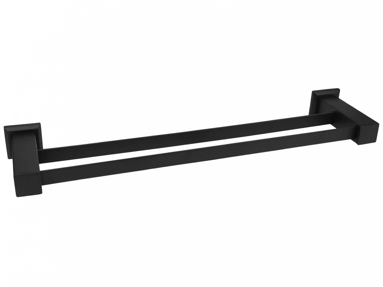 Porta-Toalha de Parede 62cm Preto Fosco - BL6092 Black Ducon Metais