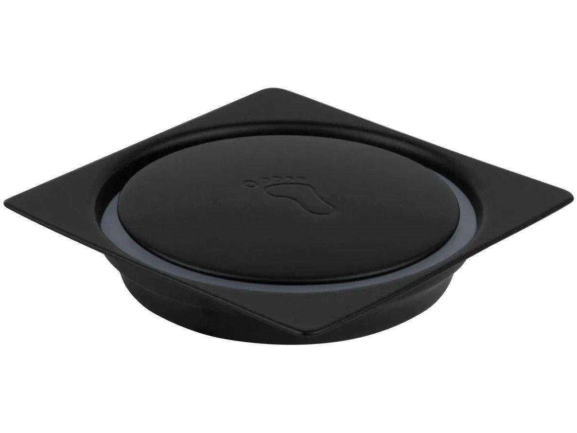 Ralo Click Quadrado Inox 10x10cm Ducon Metais - Black BL6180 Preto Fosco