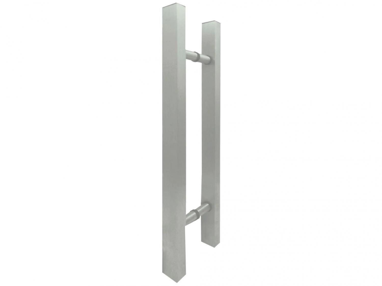 Puxador de Porta de Vidro e Madeira Ducon Metais - Classic CL3090 80cm Anodizado