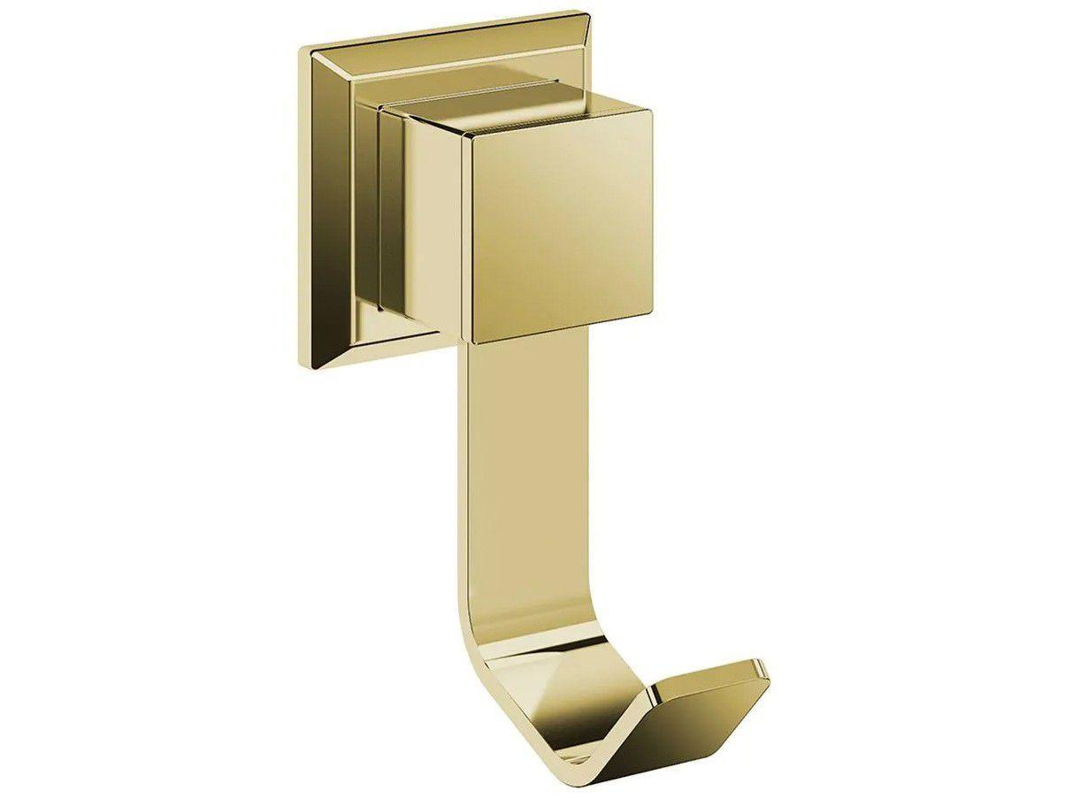 Cabide para Banheiro Inox Dourado Gold GO5060 - Ducon Metais