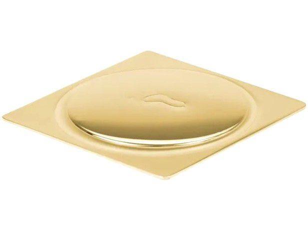Ralo Click Quadrado Inox 10x10cm Ducon Metais - Gold GO5180 Dourado