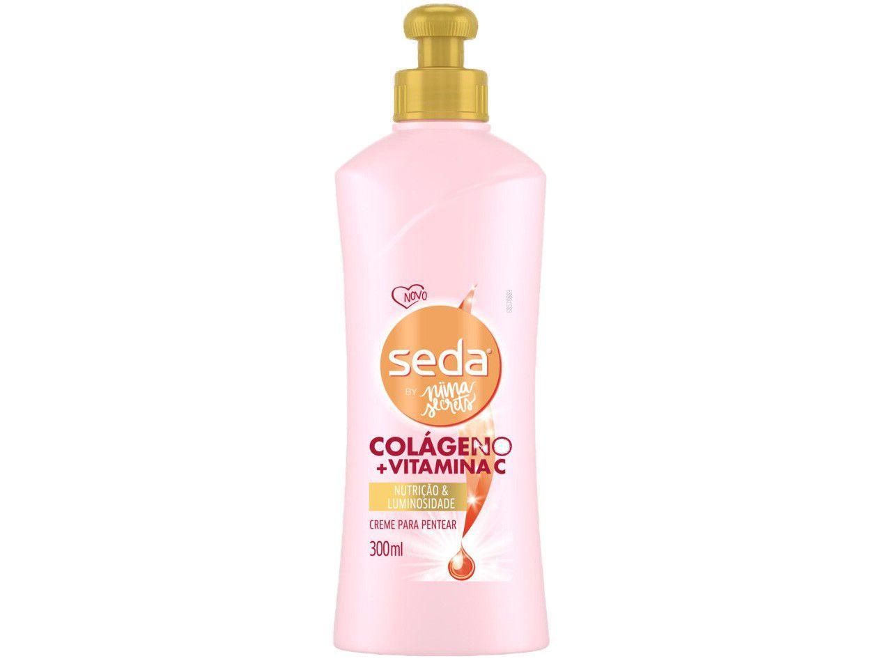 Creme de Pentear Seda By Nina Secrets - Colágeno + Vitamina C 300ml