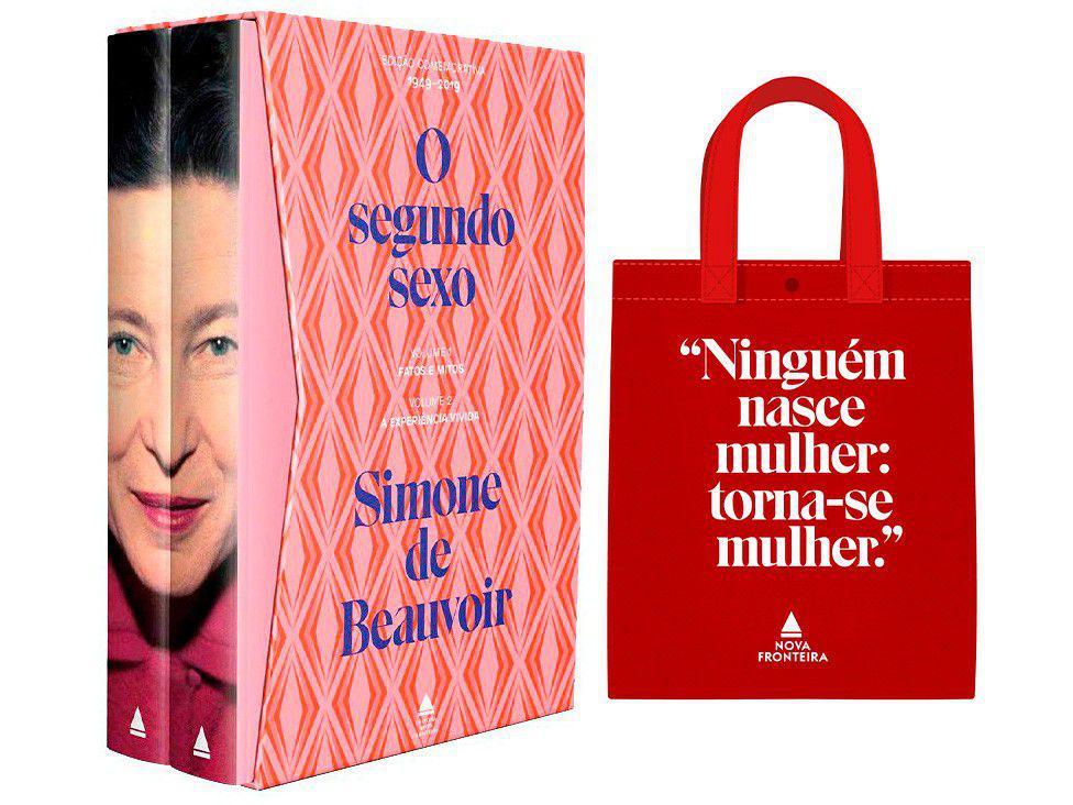 Box Livros Simone de Beauvoir O Segundo Sexo - com Bolsa Pré- Venda