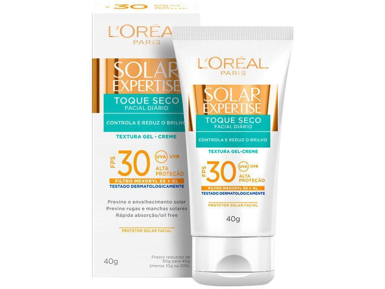 Protetor Solar LOréal Paris Solar - Expertise Facial Toque Seco FPS 30