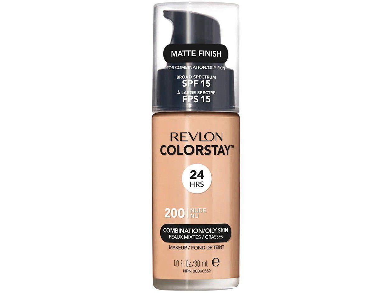 Colorstay Pump Combination/Oily Skin Revlon - Base Líquida 200 Nude