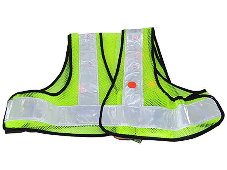 Colete Refletivo para Ciclista Verde Fluorescente - Acte Sports A75 com LED