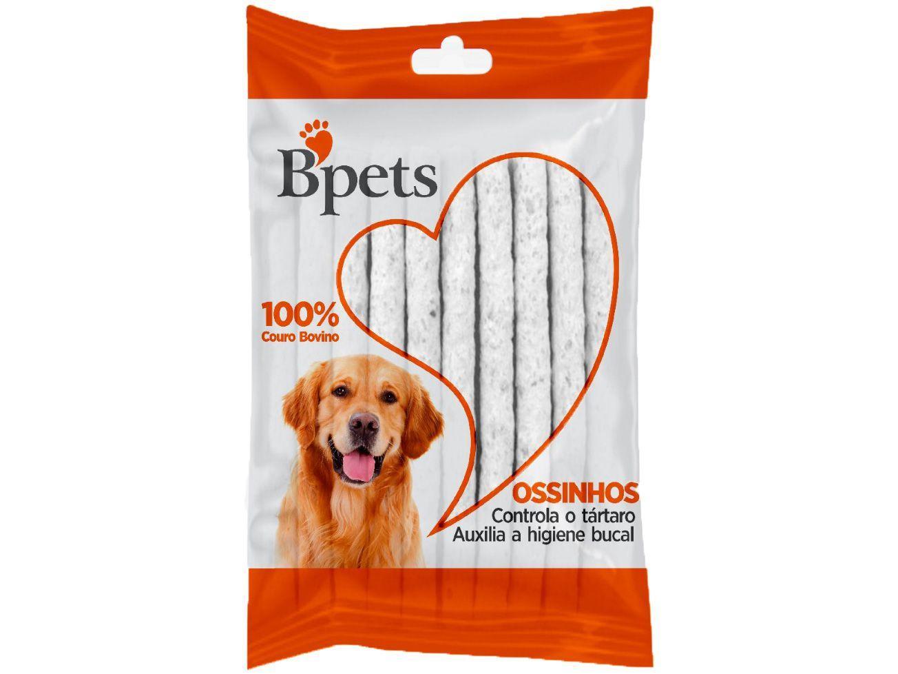 Osso para Cachorro Todas as Idades Bpets - 6mm Palito Natural 53g 12 Unidades