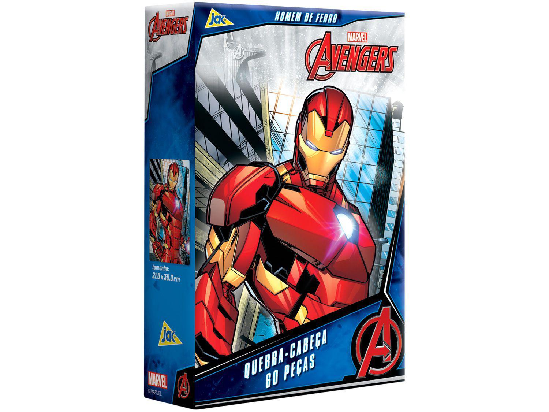 Quebra-cabeça 60 Peças Vingadores - Homem de Ferro Jak