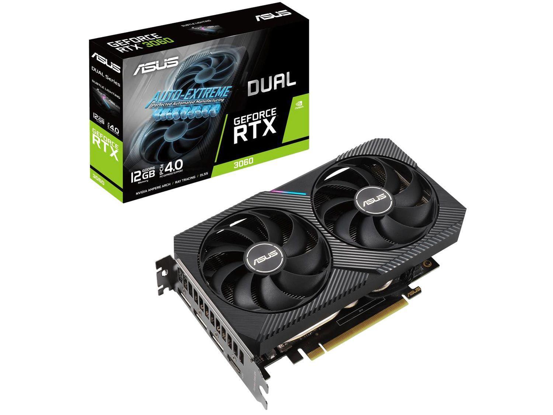 Placa de Vídeo Asus GeForce RTX 3060 12GB - GDDR6 192 bits DUAL-RTX3060-O12G