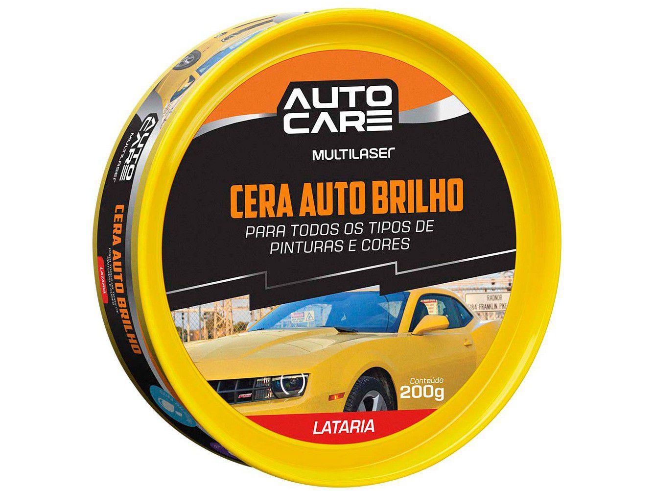 Cera em Pasta Automotiva de Carnaúba Autocare - AU445 Cristalizadora 200ml