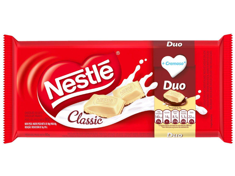 Barra de Chocolate Classic Duo Ao Leite e Branco - 90g Nestlé