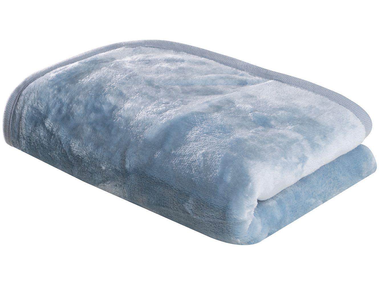 Cobertor para Bebê Sultan 100% Poliéster - Happy Day Flannel Azul