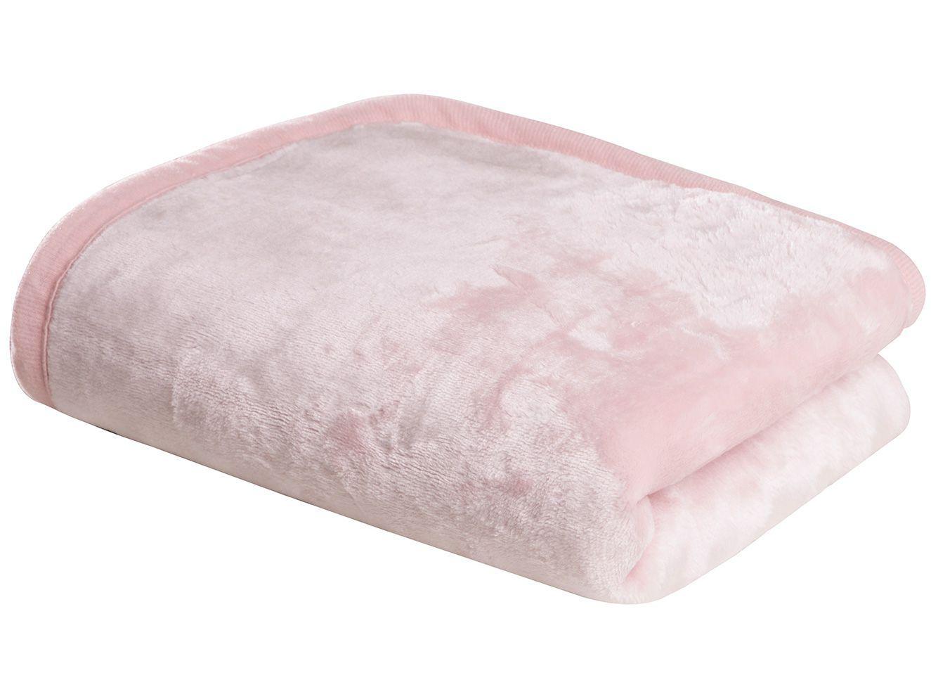 Cobertor para Bebê Sultan 100% Poliéster - Happy Day Flannel Rosa