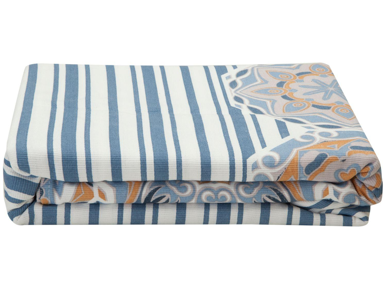 Colcha Queen Teka 100% Algodão 90 Fios - Allegro Plus Azul