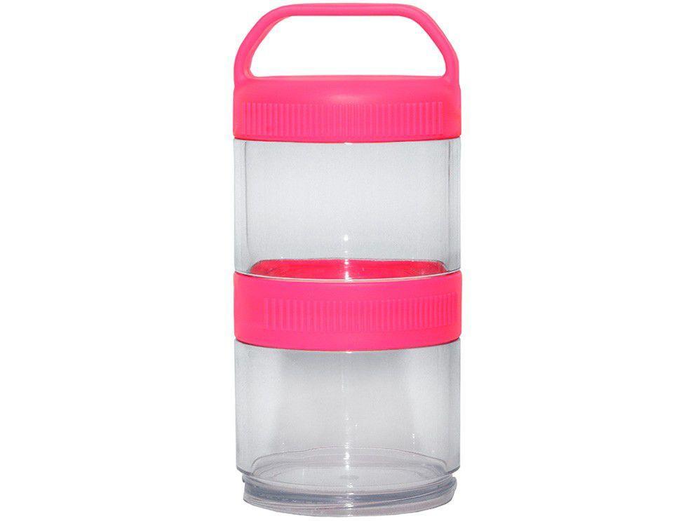 Potes Empilháveis Prottector Multiuso Pink 2 Peças