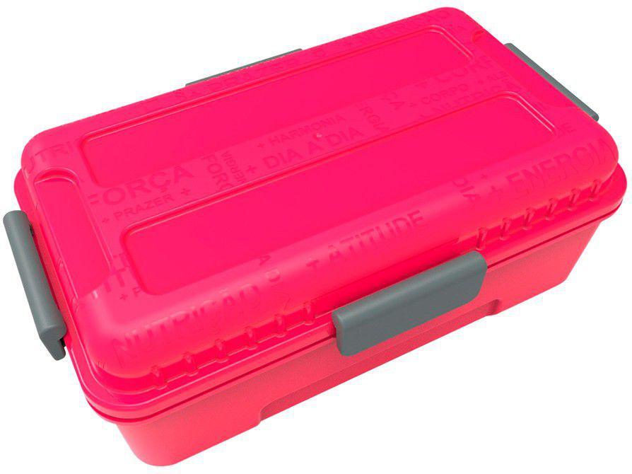 Marmita Térmica com Divisórias Prottector - Fitness Pink