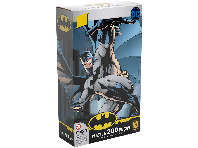 Quebra-cabeça 200 Peças Batman Liga da Justiça - Grow