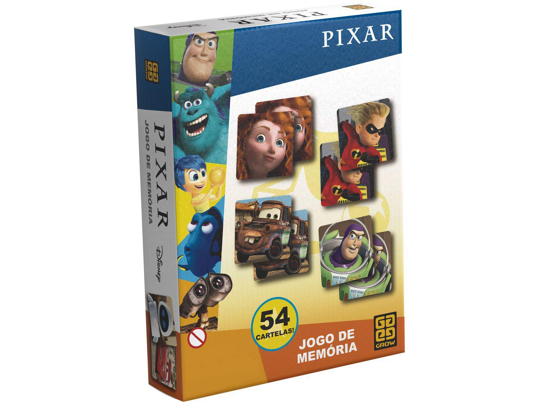 Jogo da Memória Pixar 27 Cartas Grow