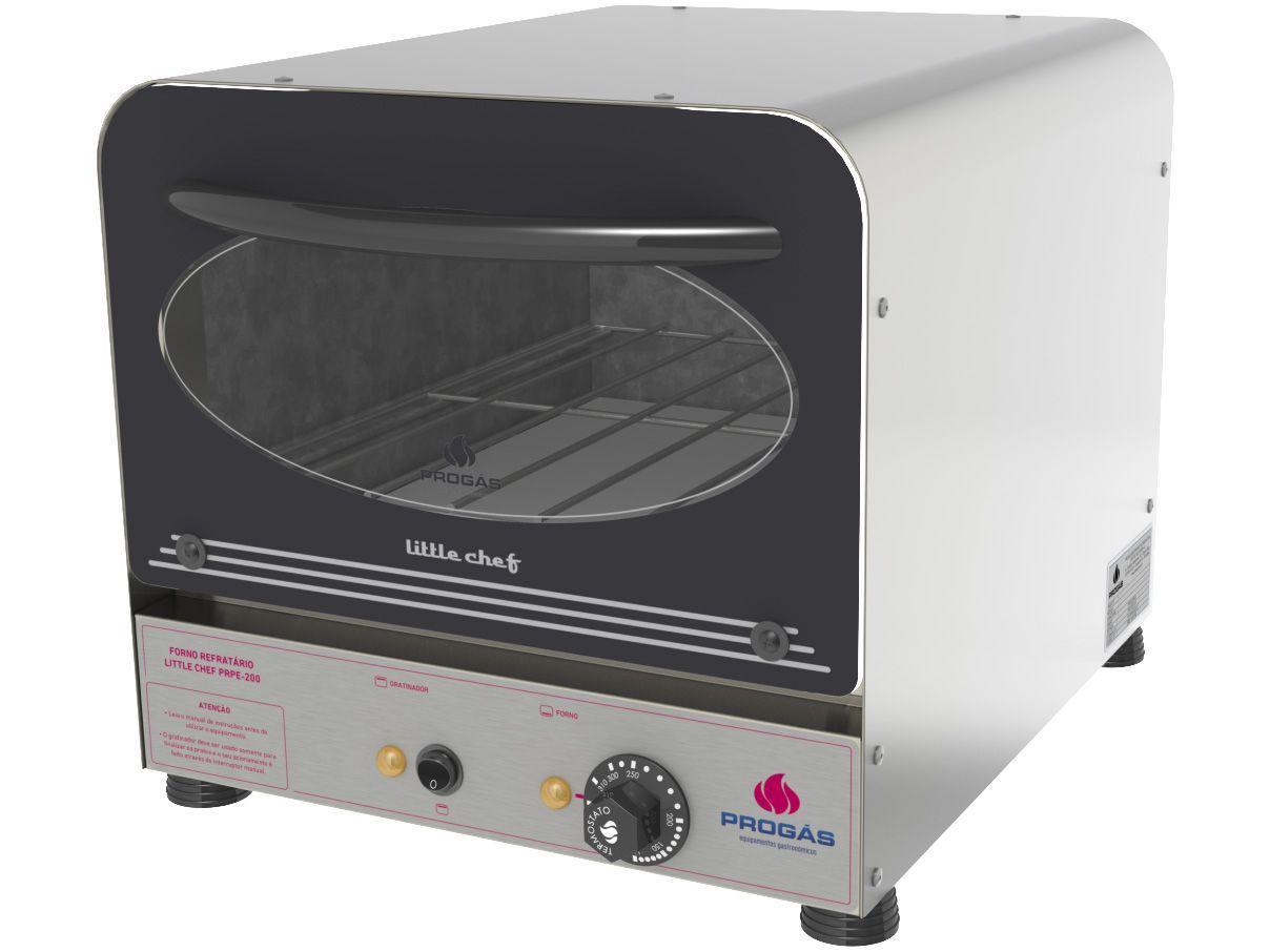 Forno Industrial Elétrico Progás 25L - Refratário Little Chef PRPE-200 Color