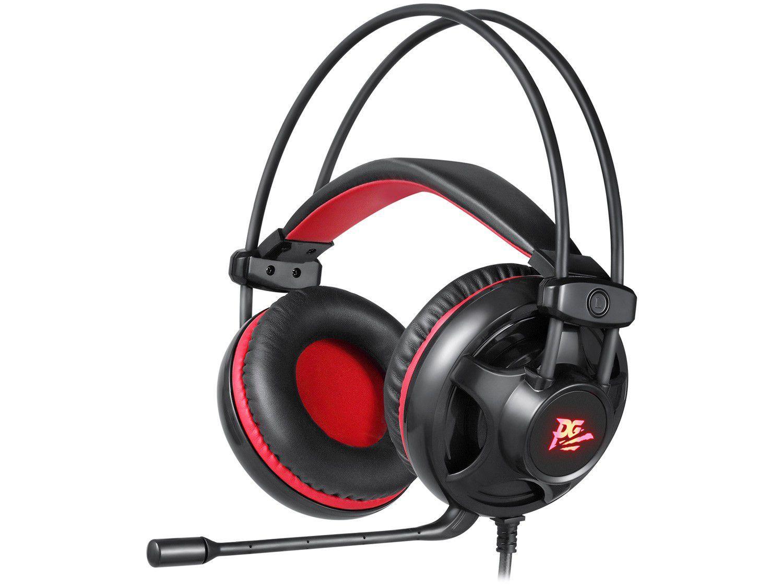 Headset Gamer Philco PHS11V PC 5.1 P2 - Preto e Vermelho