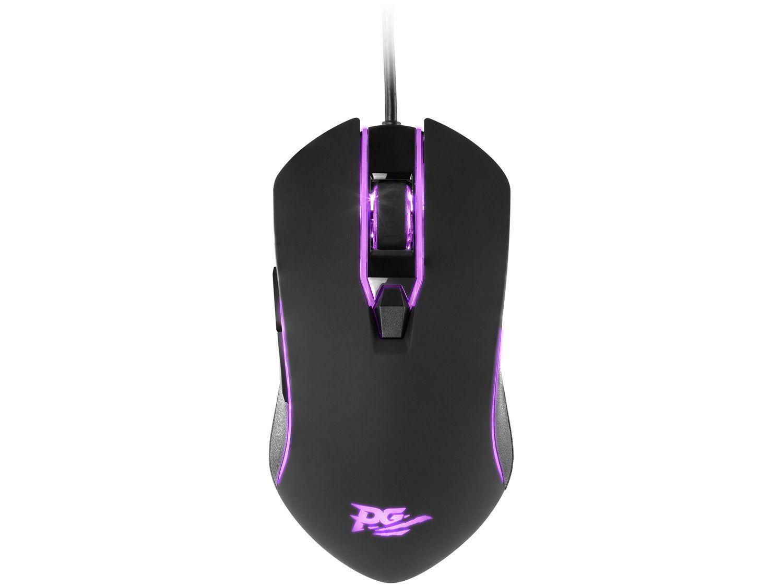 Mouse Gamer RGB Philco Óptico 2400DPI - 6 Botões PMS31 Preto Original