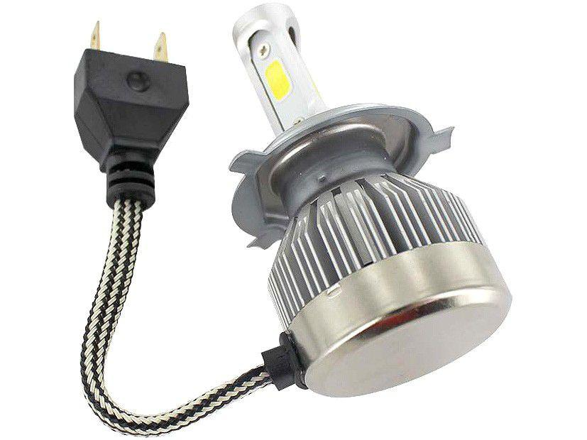 Lâmpada para Moto Super LED H4 20W 12V 6200K - Multilaser AU845 2 Unidades