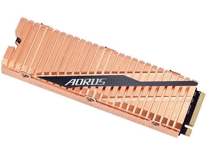 SSD Gigabyte Aorus 1TB NVMe 1.3 M.2 2280 - Leitura 5000MB/s e Gravação 4400MB/s Gen4