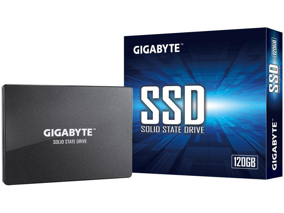 """SSD Gigabyte 120GB SATA 2.5"""" - Leitura 500MB/s e Gravação 380MB/s"""
