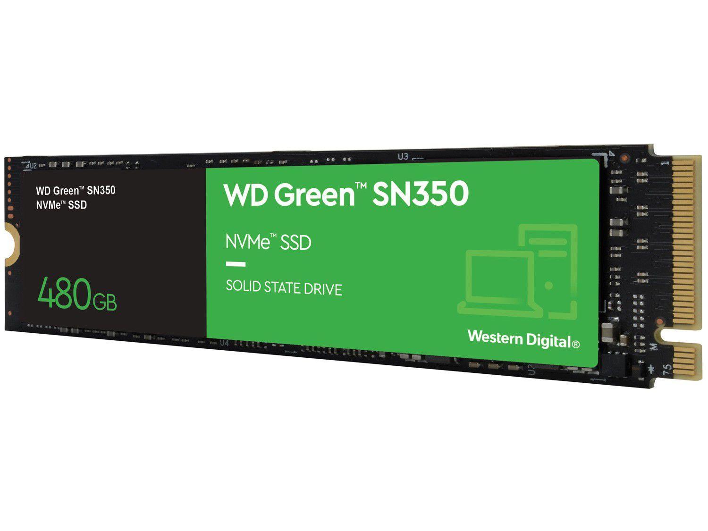 SSD Western Digital Green 480GB PCIe NVMe - M.2 2280 Leitura 2400MB/s e Gravação 1900MB/s