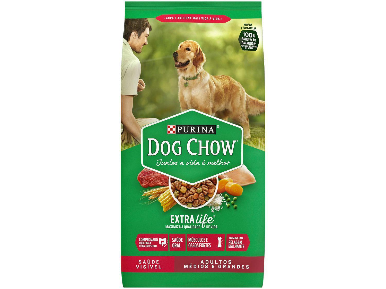 Ração Premium para Cachorro Dog Chow - ExtraLife Adulto 20kg
