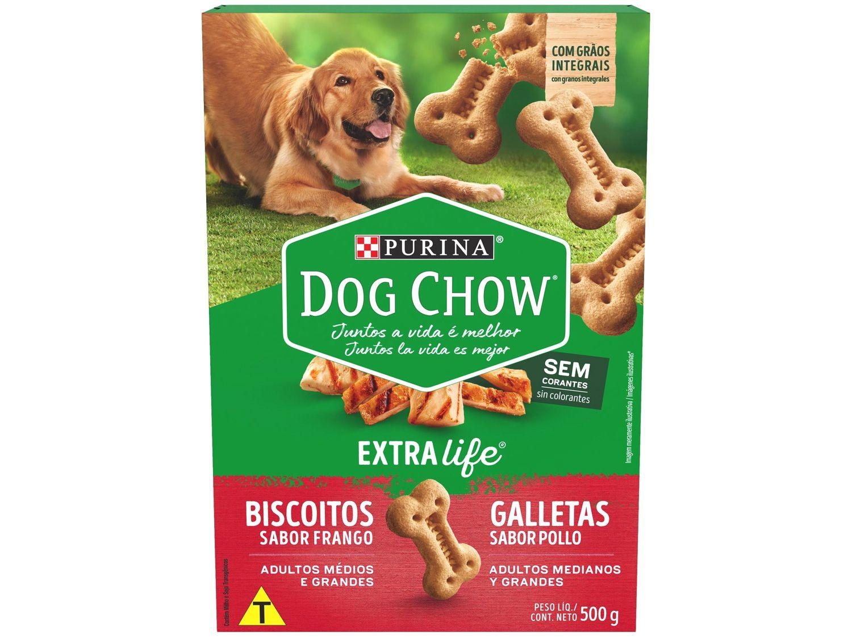 Biscoito para Cachorro Dog Chow Frango - Adulto 500g