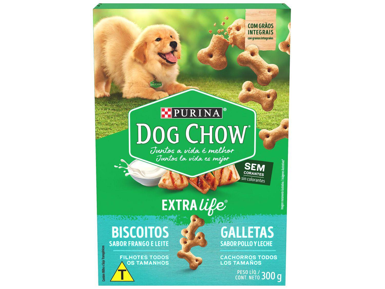 Biscoito para Cachorro Dog Chow Frango e Leite - Filhote 300g