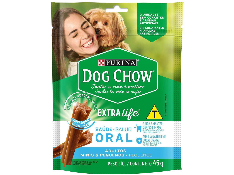 Petisco para Cachorro Adulto Dog Chow - ExtraLife Saúde Oral 45g