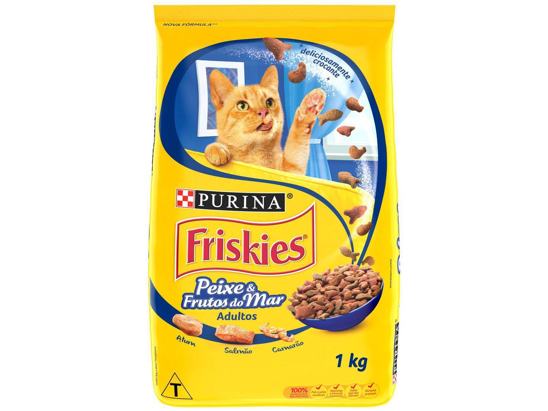 Ração Premium para Gato Friskies - Peixes e Frutos do Mar Adulto 1kg