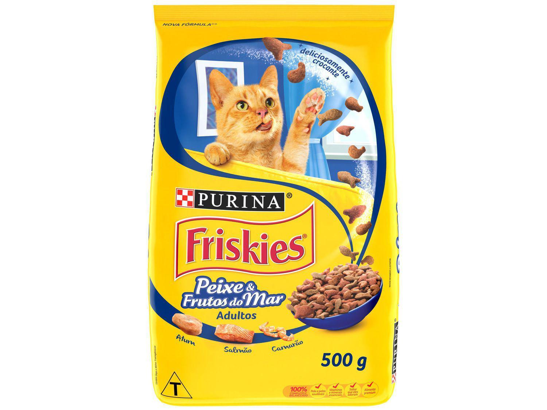 Ração Premium para Gato Friskies - Peixes e Frutos do Mar Adulto 500g