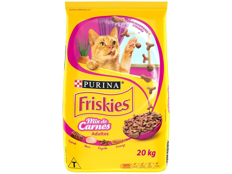 Ração Premium para Gato Friskies - Mix de Carnes Adulto 20kg