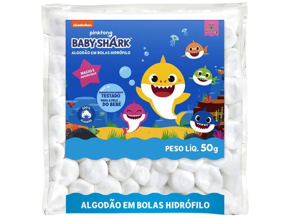 Algodão Hidrófilo Bola Cremer Baby Shark 50g