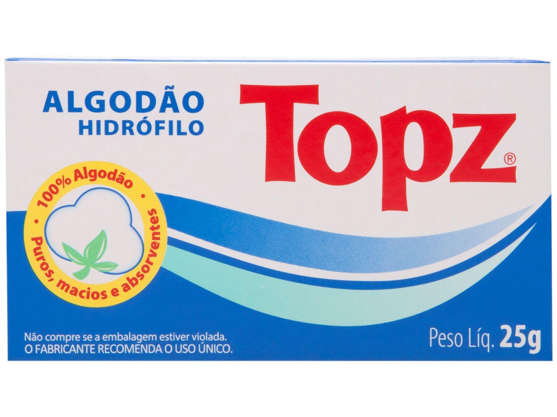 Algodão Hidrófilo Rolo Topz 25g