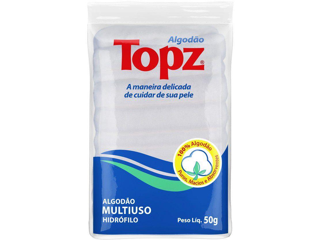 Algodão Hidrófilo Sanfonado Topz Multiuso Zig Zag - 50g