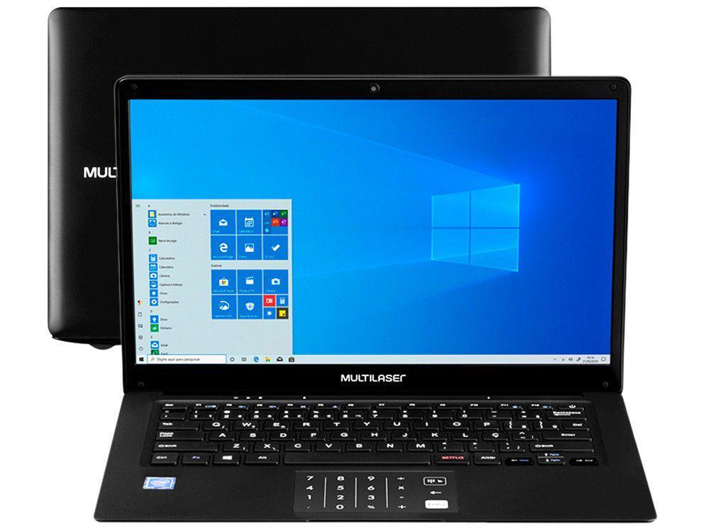 "Notebook Multilaser Legacy Book PC260 Intel - Celeron 4GB 64GB eMMC 14"" LCD Windows 10"