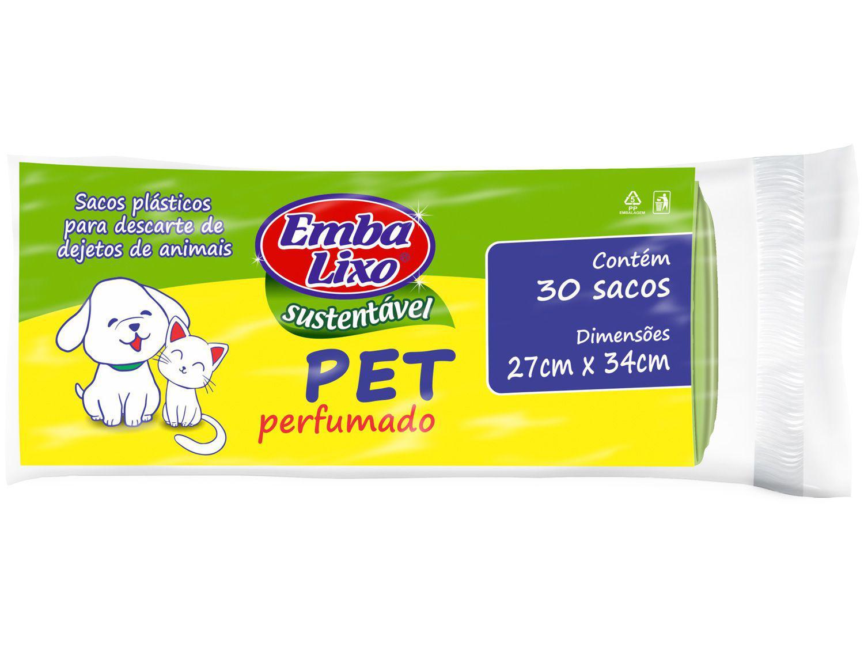 Saco de Lixo Verde Até 2kg Perfumado - para Pet Embalixo 30 Unidades