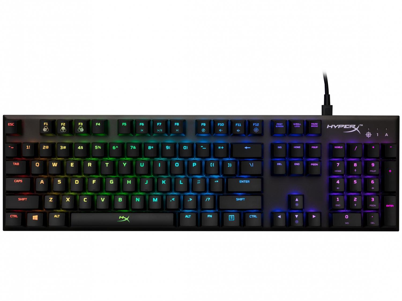 Teclado Mecânico Gamer USB HyperX Preto - Alloy FPS RGB