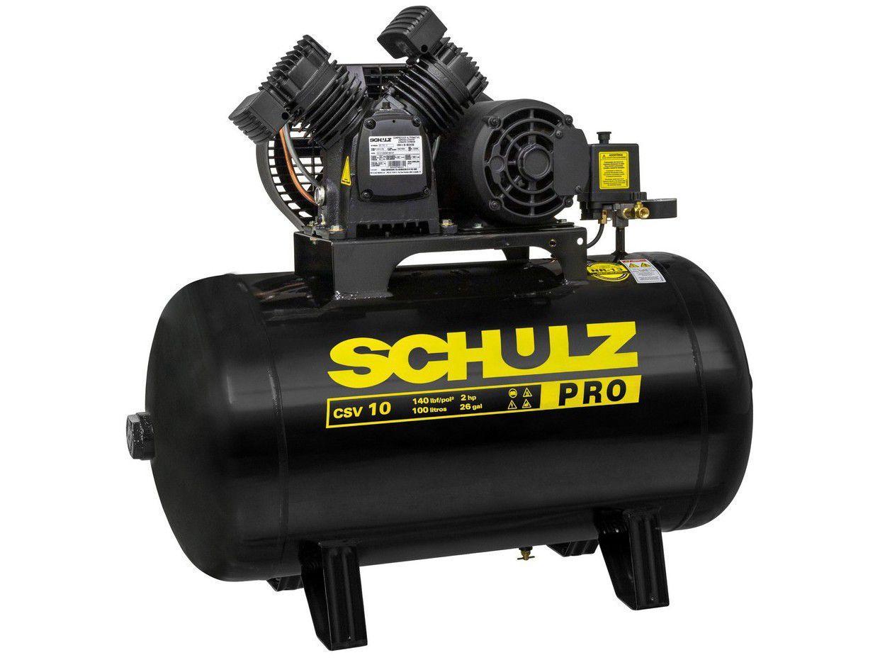 Compressor de Ar Schulz 2HP 100L 10 Pés - Pro CSV 10/100