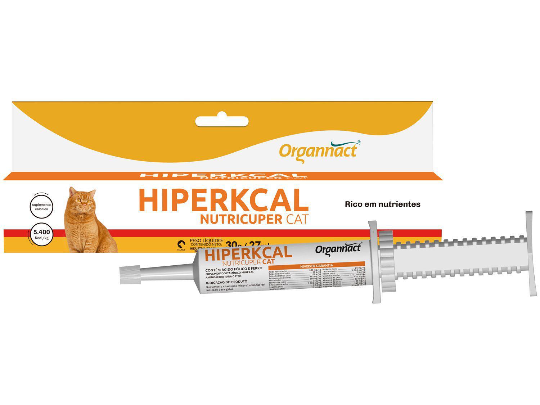 Suplemento Organnact Hiperkcal Nutricuper Cat - para Gato 27ml