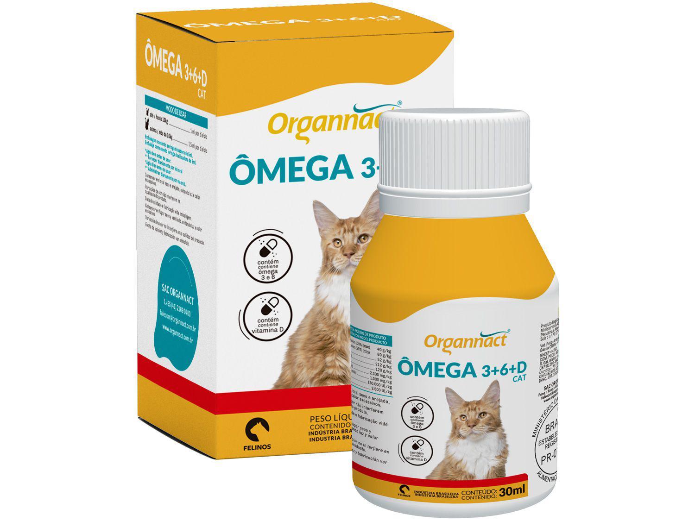 Suplemento Organnact Ômega 3+6+D Cat - para Gatos 30ml
