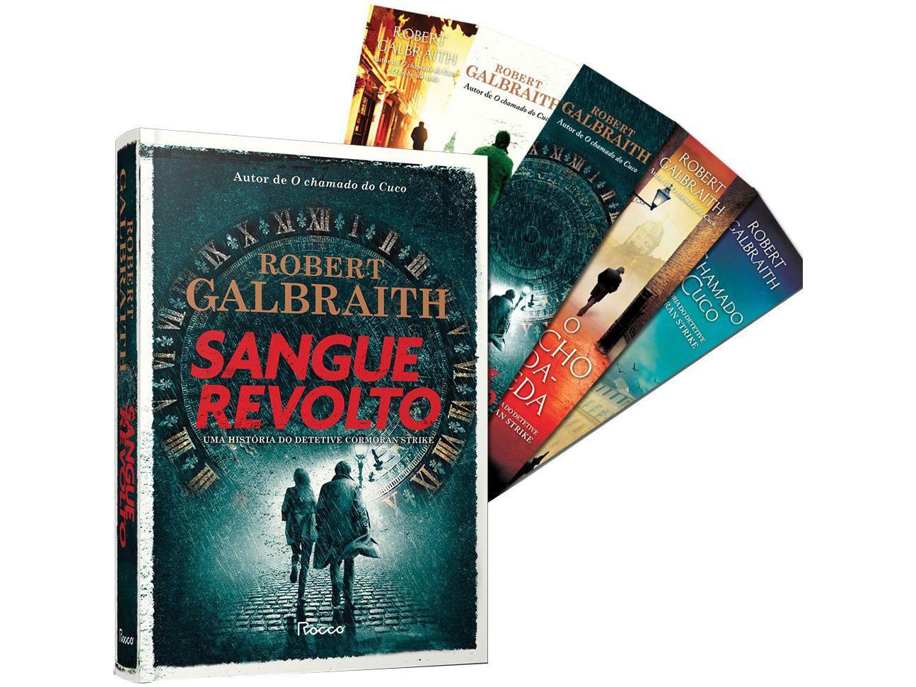 Livro Sangue Revolto Robert Galbraith - com Brinde