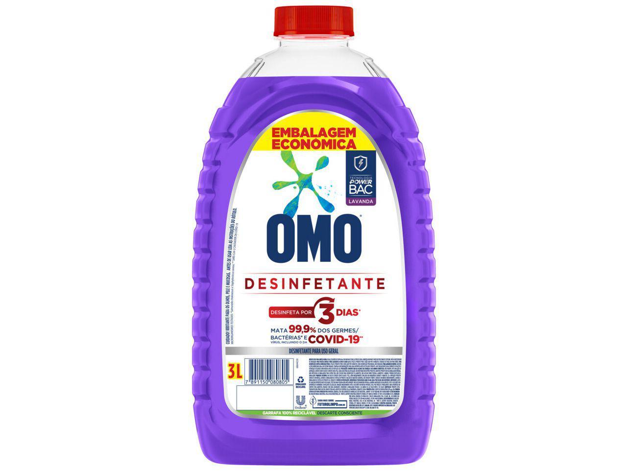 Desinfetante Omo Lavanda 3L