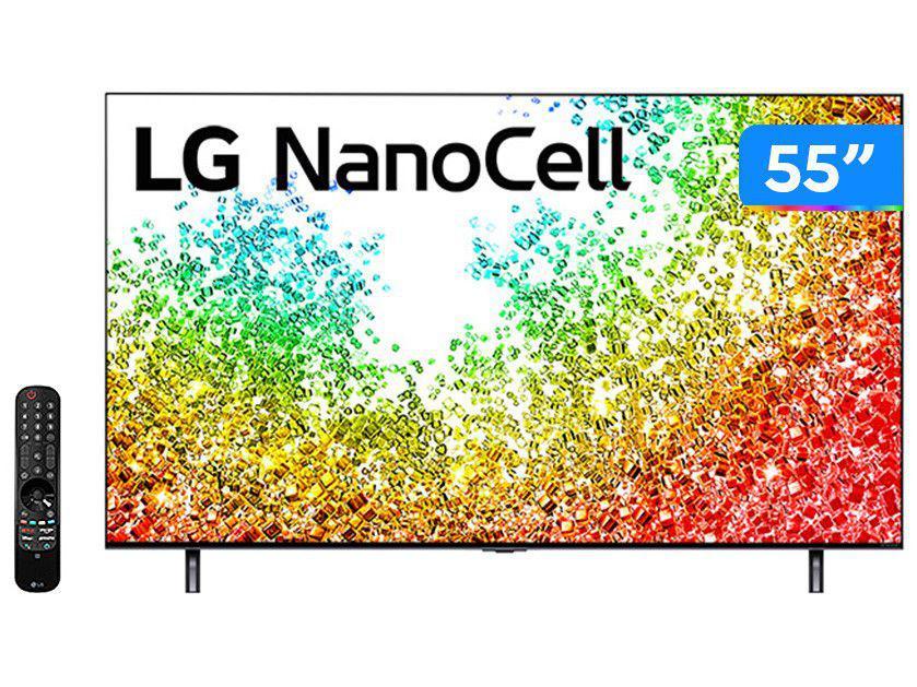 "Smart TV 55"" 8K UHD Nanocell LG 55NANO95SPA - 60Hz Wi-Fi e Bluetooth Alexa 3 HDMI 2 USB"